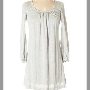 Trina Turk Silver Shimmery Gray Casual Dress
